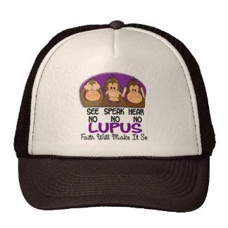 See Speak Hear No Lupus 1 Trucker Hat