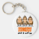 See Speak Hear No Multiple Sclerosis MS 3 Key Chain