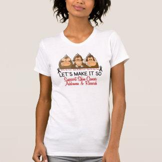 See Speak Hear No Skin Cancer 2 T-Shirt