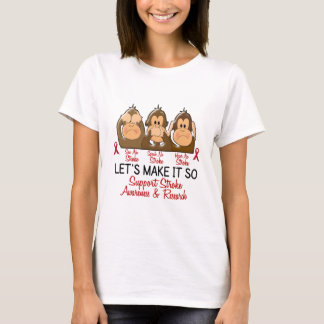 See Speak Hear No Stroke 2 T-Shirt
