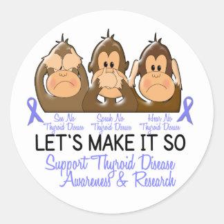 See Speak Hear No Thyroid Disease 2 Sticker