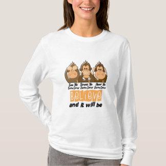 See Speak Hear No Uterine Cancer 3 T-Shirt