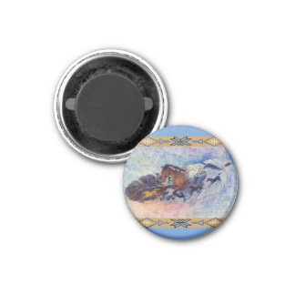 See Spot Run by Kathy Morrow 3 Cm Round Magnet
