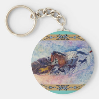 See Spot Run by Kathy Morrow Basic Round Button Key Ring