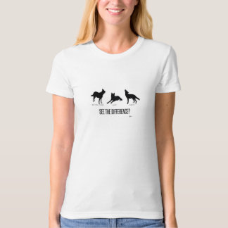"""See the Difference?"" (Man's Best Friends) Tshirts"