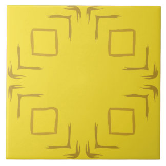 See The Forest Abstract Art Decorative Yellow Tile