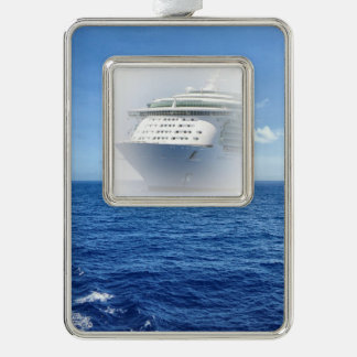 See the Sea Custom Ship Silver Plated Framed Ornament