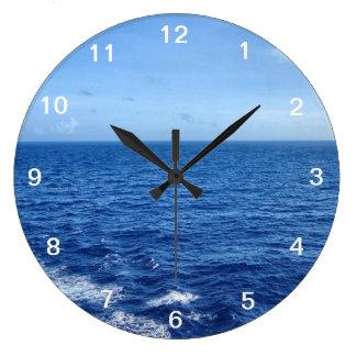 See the Sea Large Clock