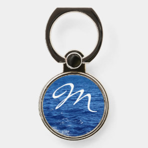 See the Sea Monogrammed Phone Ring Stand