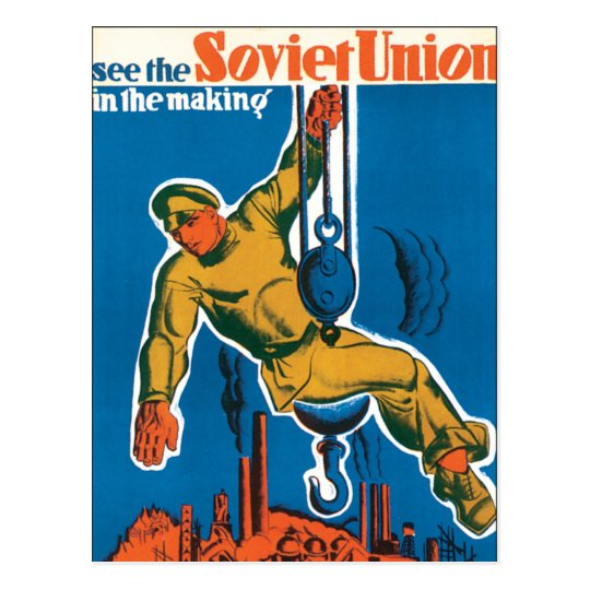 See the Soviet Union in the Making Postcard
