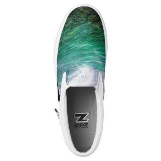 See Through The Ocean Coral Slip-On Shoes