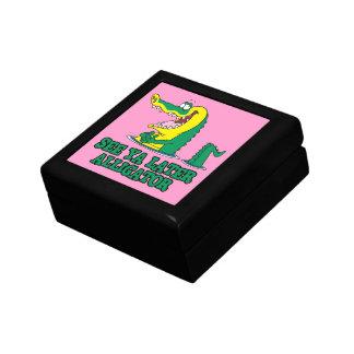 see ya later alligator small square gift box