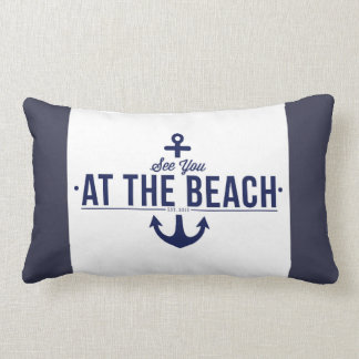 See You At The Beach Cushion