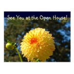 See You at the Open House! postcards Dahlia