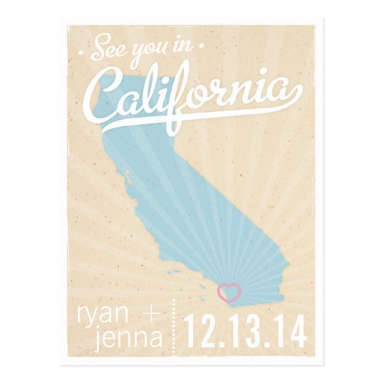 See You In California Save the Date Postcard