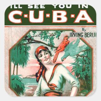 See You In Cuba Square Sticker