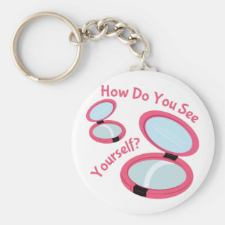 See Yourself Basic Round Button Key Ring