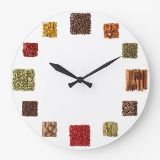 Seed And Spices Clock For Every Kitchen