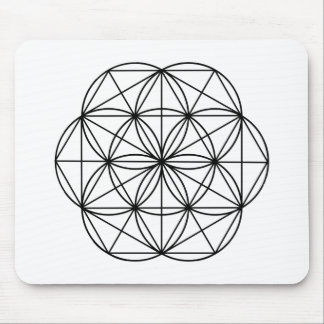 Seed of Life Black Mouse Pads