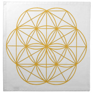 Seed of Life Gold Napkin
