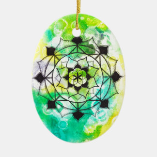 Seed of Life Mandala Christmas Ornament