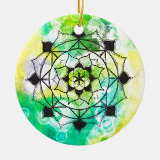 Seed of Life Mandala Round Ceramic Decoration