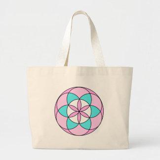 Seed of Life Pink Jumbo Tote Bag