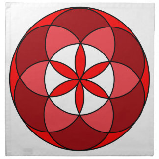 Seed of Life Red3 Napkin