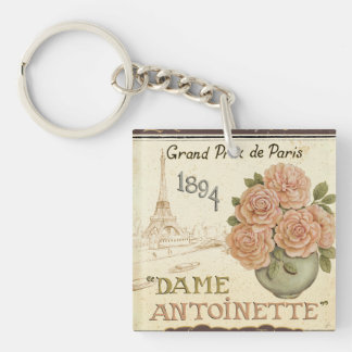 Seed Packet Double-Sided Square Acrylic Key Ring