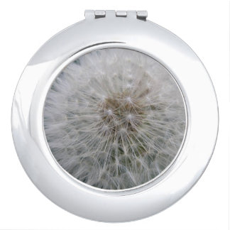 Seeding Dandelion Flower Compact Mirror