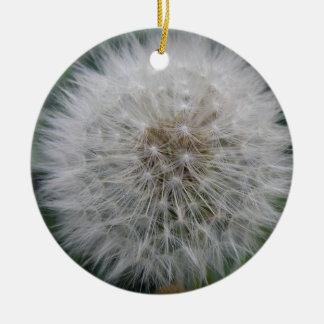 Seeding Dandelion Flower Custom Birthday Christmas Ornament