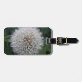 Seeding Dandelion Flower Custom Luggage Tag
