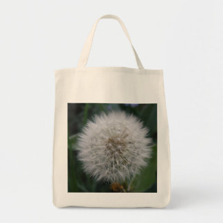 Seeding Dandelion Flower Grocery Tote bag