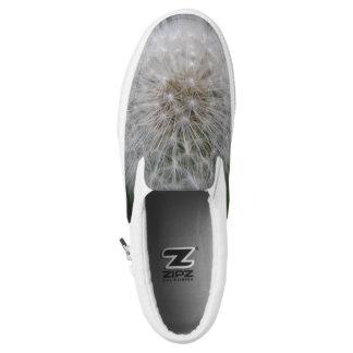 Seeding Dandelion Flower Slip on Shoes Printed Shoes