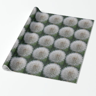Seeding Dandelion Flower Wrapping Paper