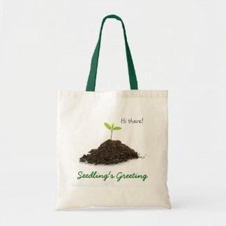 Seedling s Greeting Tote Bags