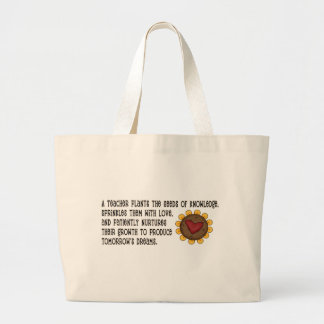 Seeds of Knowledge Teacher Large Tote Bag