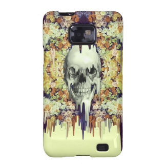 Seeing Color, yellow melting floral skull Galaxy S2 Case