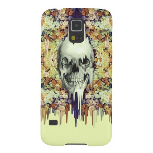 Seeing Color, yellow melting floral skull Galaxy Nexus Cases