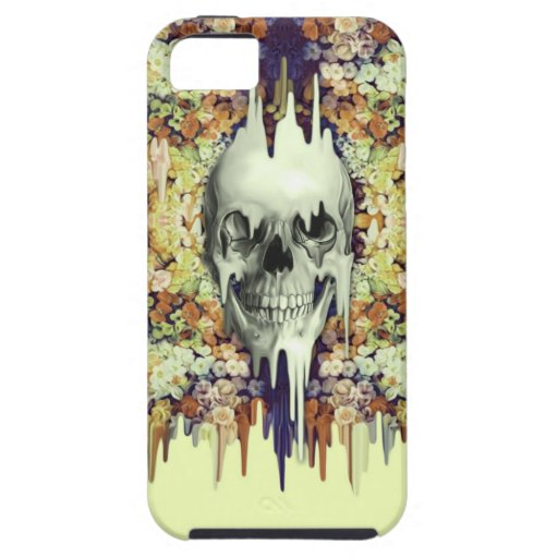 Seeing Color, yellow melting floral skull iPhone 5/5S Covers