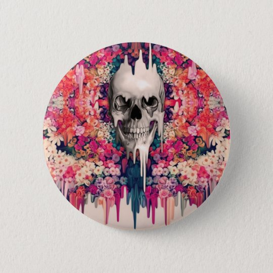 Seeing Colour Melting Sugar Skull 6 Cm Round Badge