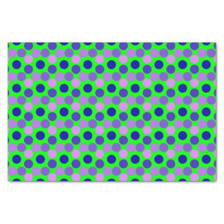 Seeing Dots-PURPLE-GREEN-TISSUE WRAPPING PAPER