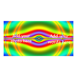 Seeing in Fluorescent Neon Fractal Card