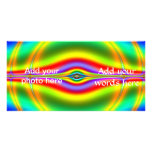 Seeing in Fluorescent Neon Fractal Personalized Photo Card