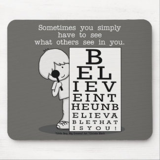 Seeing is Believing-Eye Chart Mouse Mat