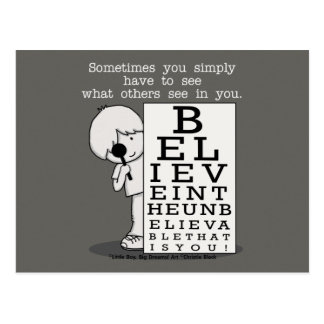 Seeing is Believing-Eye Chart Postcard