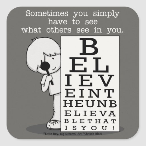 Seeing is Believing-Eye Chart Square Sticker