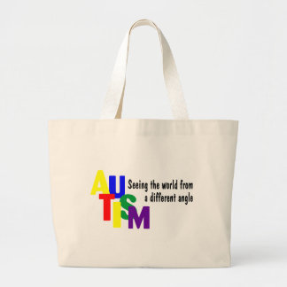 Seeing The World From A Different Angle (Bright) Jumbo Tote Bag