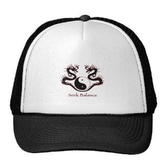 Seek Balance Yin Yang and Dragons Cap