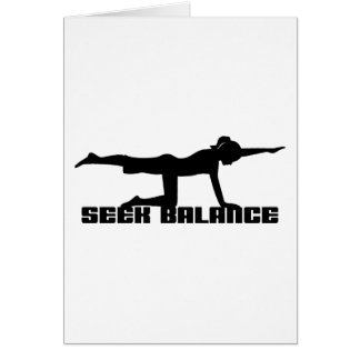 Seek Balance Yoga Gift Greeting Card